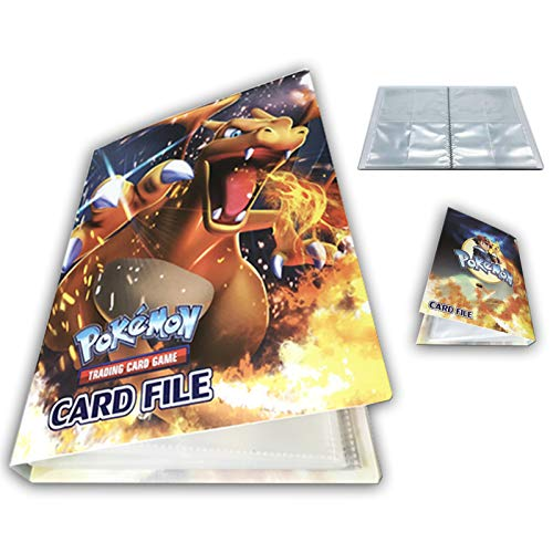 Card Album Compatible with Pokemon Cards, Binder Cards Album Book, Card Holder, Best Protection Trading Cards Put up to 240 Cards (Charizard)