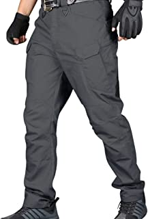 feelingood Men Cargo Pants Trouser Multi Pockets Casual Breathable for Outdoor Camping Hiking