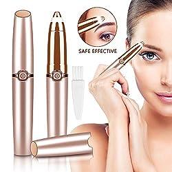 Eyebrow Shaving, Electric Eyebrow Trimmer with LED, Eyebrow Trimmer Ladies, Painless Eyebrow Shaving, Portable Electric Women Facial Trimmer for Bikini Arm Leg Body