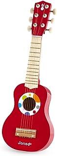 Janod - Ma Première Guitare en Bois Confetti - Instrument de Musique Enfant - Jouet d'Imitation et d'Éveil Musical - Dès 3...