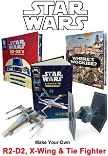 Star Wars Workshop - Build Your Own Robot and Make Your Own X-wing and Tie Fighter Star Ships. Search and Find Wookiee (Childrens Novelty & Activity 3 Books Collection Pack Set)