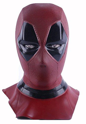 YK película Deadpool Pelucas muertas máscara Cosplay Casco de Halloween COS Muerto Cosplay máscara apoyos máscara de la Cabeza (Deadpool)