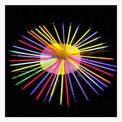 WZPG Palitos de revestimientos de 100 Piezas, palitos de Resplandor Premium, Suministros para Fiestas, Pulseras y Collares Neon Lights, adecuados para Festivales, carnavales, Fiestas de cumpleaños