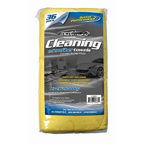 Microtex Microfiber Oversized Cleaning Towels, 36 pk.