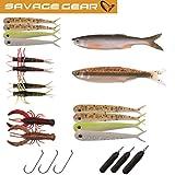 Savage Gear Dropshot Pro Pack Kit - 16 Gummiköder + 3 Haken + 3 Bleie zum Spinnfischen auf Barsch &...