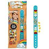 LEGO DOTS - Pulsera arcoíris, brazalete de color azul personalizable con piezas decorativas...