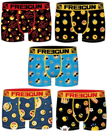 Freegun Boxershorts für Kinder, Mikrofaser, 5 Stück Gr. 14-16 Jahre, Serie 1 Fgp80
