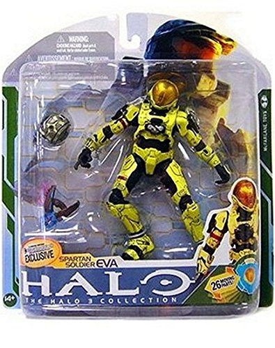 HALO 3 Series 5 Exclusive Spartan Soldier EVA (Pale Yellow) Action Figure