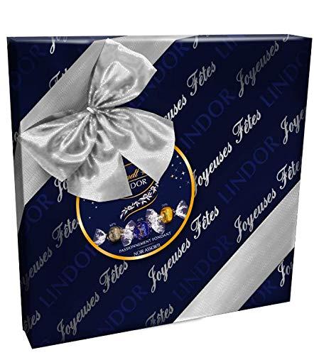 Lindt - Boîte Cadeau LINDOR Noir Assorti - Chocolats Noir - Fondants & délicats - 287g