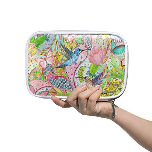 Mr.XZY Estuche para lápices de colibrí, para niña, acuarela, viajes, bolsa de cosméticos, cartera con cremallera, para mujer 2011846