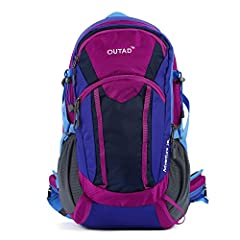 """8 POCKETS: 4 zippered compartments, 2 water bottle holders, 2 waist belt zippered pockets. COMFORTABLE: 0.79""""(2cm) thick firm but forgiving padding on the shoulder straps and hip belt. SUSPENTION SYSTEM: External detachable frame for great ventilatio..."""