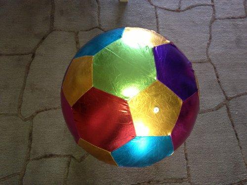 Ballon de football géant en couleurs, superbe, diamètre 40 cm en tissu flashi
