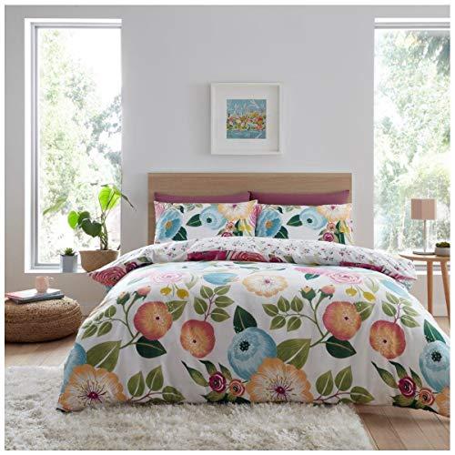 GAVENO CAVAILIA Juego de Funda de edredón Reversible con diseño Floral de fácil Cuidado, polialgodón botánico, Color Rosa