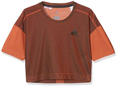 adidas Yg Knit tee Camisa de Golf, Niñas, Gris (Carbon/naalre), 170 (14/15 años)