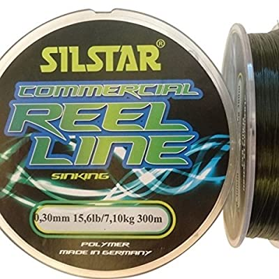 Silstar 300m Spools of COMMERCIAL SINKING Quality Polymer Fishing Line suitable for Coarse and Tournament (8 Strains from 4.2lb to 15.6lb) by SILSTAR