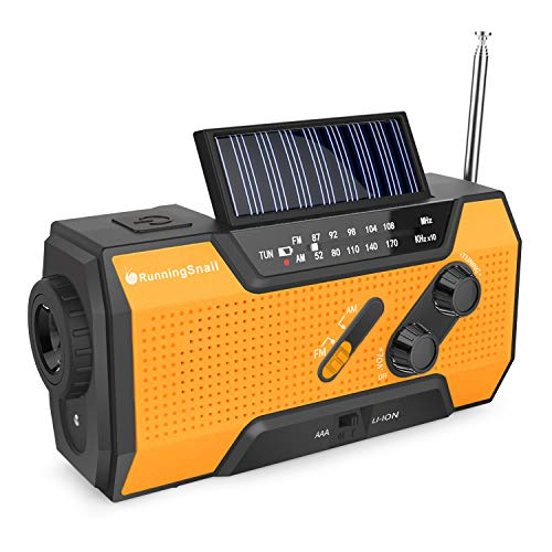 Wind Up Solar Radio,Emergency Radio Hand Crank Radio with Reading Lamp,LED...