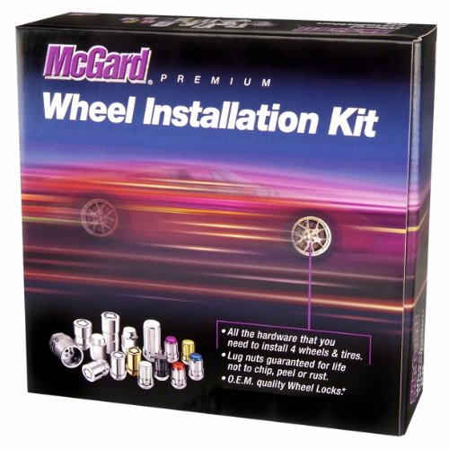 McGard 65610BK SplineDrive Black (M14 x 1.5 Thread Size) Wheel Installation Kit for 6-Lug Wheels,20 Lug Nuts / 4 Locks / 1 Key / 1 Install Tool