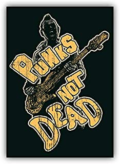 KW Vinyl Punks Not Dead Label Truck Car Window Bumper Sticker Decal 5