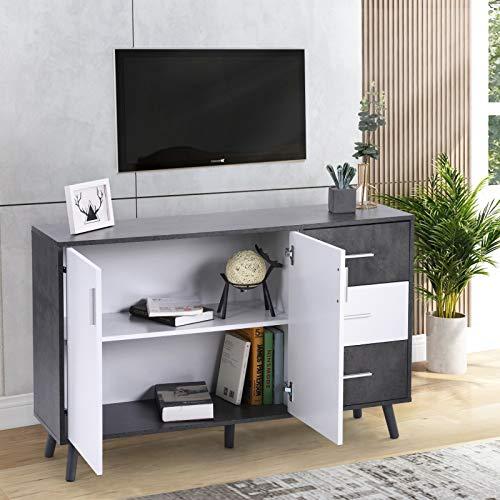 Kommode Sideboard Schrank Mehrzweckschrank Standschrank Wohnzimmer Esszimmer Schlafzimmer Büro Flur Schlechte Küche Industrie-Design L120 X W35 X H76 cm