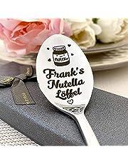 Bin Bin Nutella sked kaffesked med gravyrsked i presentförpackning, personlig