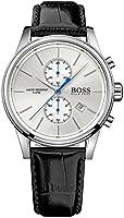 Hugo Boss Jet Men's White Dial Leather Band Watch - 1513282, Analog Display, Quartz Movement
