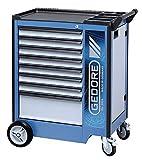 Carro de herramientas M, 8Schubladen cajones GEDORIT 2004 0701. Azul/plata de cubierta. Color, Gedore