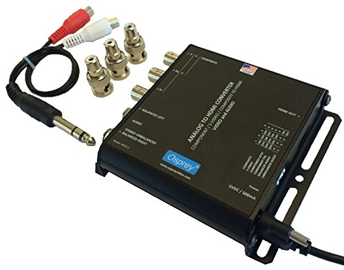 Osprey Video AHCA-2 Analog Component, S-Video, CVBS, Composite to HDMI Converter with Audio Embedding