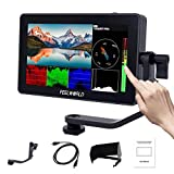 Feelworld F6 Plus 5.5 Pouces Caméra Moniteur DSLR Camera Field Monitor Touch Screen écran 3D Lut Forme d'onde Small Full HD 1920x1080 IPS Video Peaking Focus Assist avec 4K HDMI Type C 8.4V DC Output