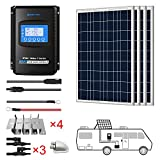 ACOPOWER 400 watts Polycrystalline Panel Solar RV Kits, 4x100w 12Volts Solar Panel with 40A MPPT LCD...