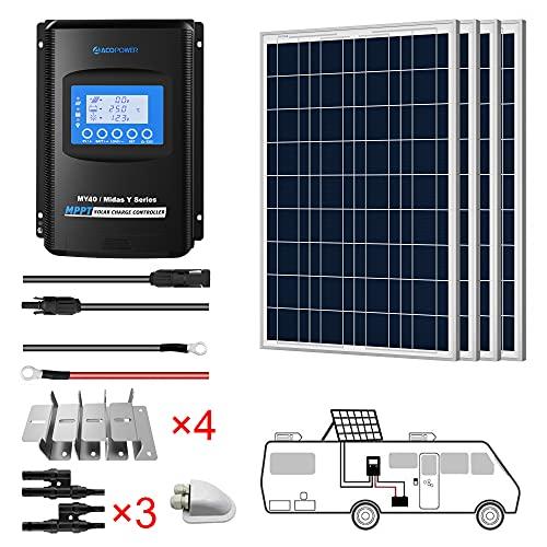 ACOPOWER 400 watts Polycrystalline Panel Solar RV...