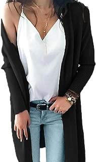Women Solid Soft Stretch Outwear Long Sleeve Open Front Cardigan