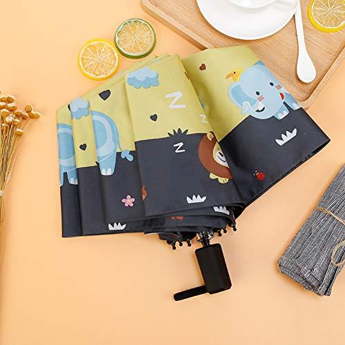 XdiseD9Xsmao paraplu met olifantenmotief, 3 volt, duurzaam, licht, uv-bescherming, winddicht, regen, parasol Witte Melk
