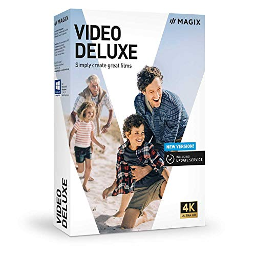Vidéo deluxe 2021 - La création simple de films captivants|Classic|2 Devices|Unlimited|PC|Disque
