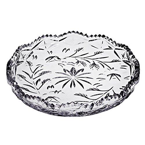 CRISTALICA Teller Kuchenteller Tortenteller Rebecca Transparent D 15,5 cm Kristallglas