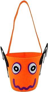 iTemer portacioccolatini per Halloween per bambini, graziosa borsa per dolcetti, decorazione per Halloween, 3#, 10*36cm