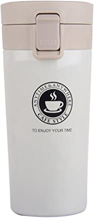 Hydrogen Alkaline Water Bottle,Stainless Steel Insulated Water Bottle Leak-Proof Thermos Cup 13.5 Oz Travel Mugs