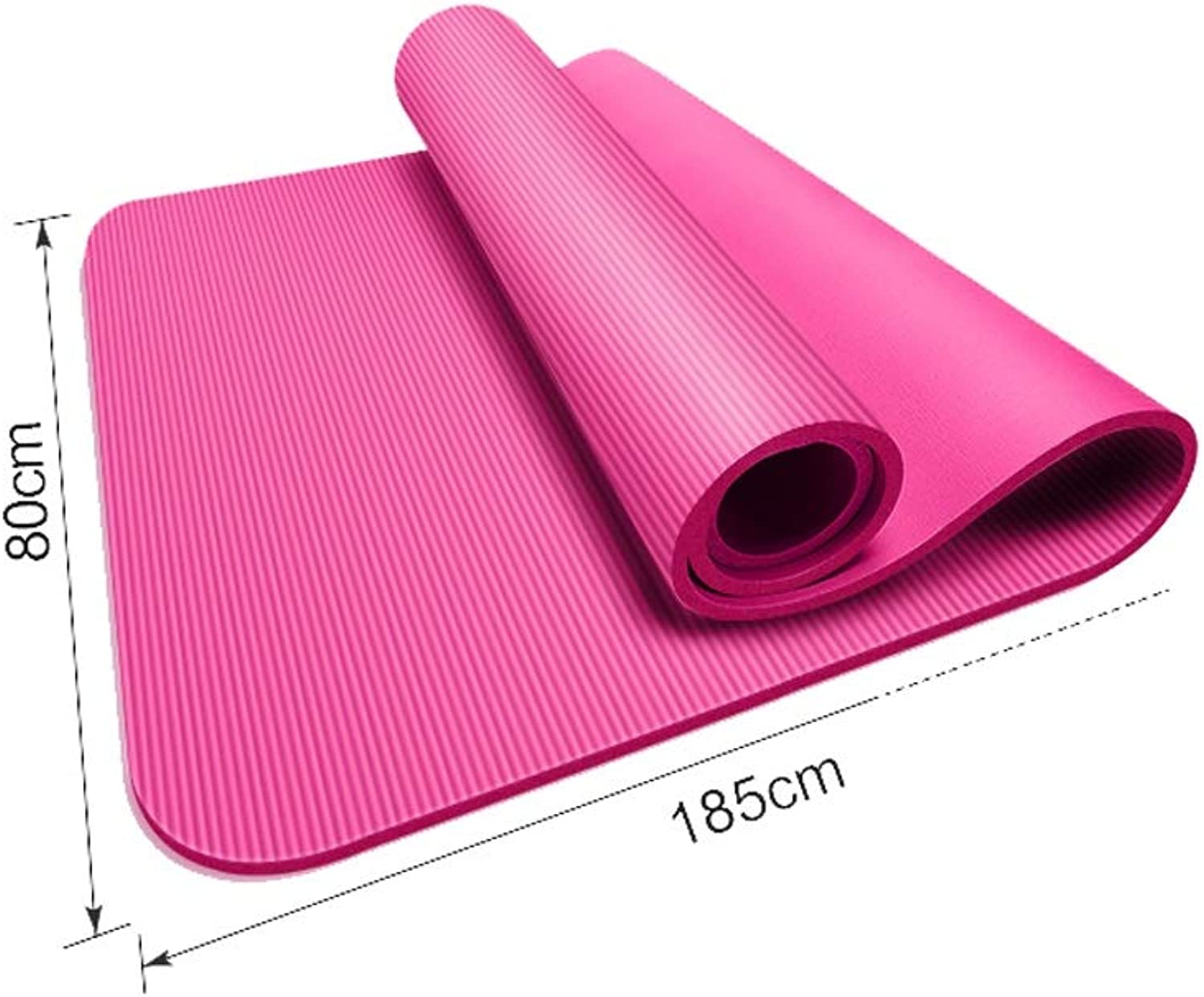 Widened Thickening Yoga mat 185cm×80cm with Portable Backpack Tied with NonSlip Fitness mat Outdoor Sports mat mat XUMINGYJD