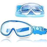 DasMeer Kids Swimming Goggles, Swimming Goggles Kids Anti-Fog Anti-Leak UV Protection Large Swim Goggles Kids No Leaking, with Storage Case Swimming Goggles Kids 6-14