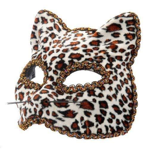 The Rubber Plantation TM- Masque vénitien léopard pour déguisement d'Halloween, Unisexe-Adulte, 619219292511, Multicolore, Taille unique