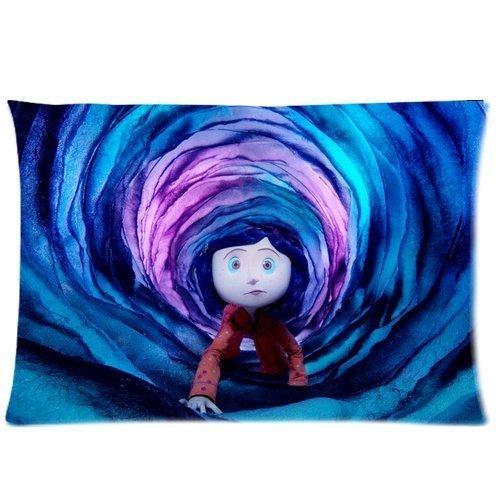 Diseño de Coraline y la puerta secreta Coraline en el agujero personalizado cama tamaño Queen en…