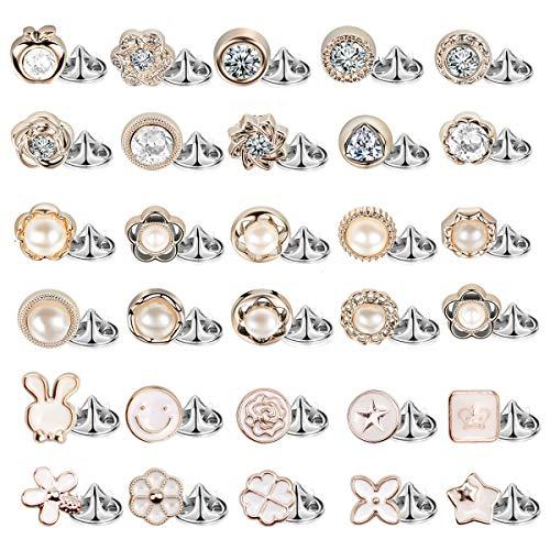 NATUCE 30 Stück 1 cm X 1 cm Broschen Pins für Kleidung, Anti-Licht Kleine Brosche Sicherheitsbrosche, Decorative Brosche Knöpfe Badge Pin Nadeln für Frauen Strickjacke Pullover Hut