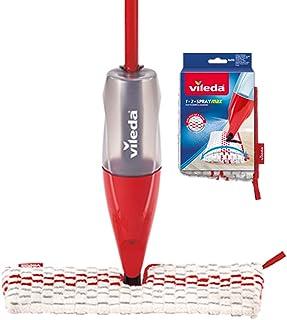 Vileda Spray & Clean Balai pulvérisateur avec réservoir pour nettoyage humide des carrelages, parquets et stratifiés