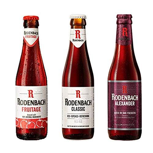 Rodenbach Mixpack, Verschiedene Biere aus Flandern, Fruitage, Alexander, Classic, 8x 0,25 Liter und 4x 0,33 Liter