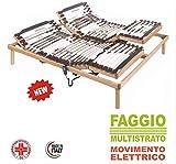 80 x 190 Prodotto Fatto in Italia Evodreams Rete Letto Sirio 18 doghe in faggio Multistrato Telaio in Metallo con Sistema anticigolio Oropedica Anatimica