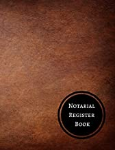 Notarial Register Book: Notary Log