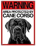 Lovelytiles Cane Corso Targa ATTENTI al Cane Cartello Warning Area Protected BY