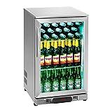 Royal Catering RCGK-108S Minibar Kühlschrank Getränkekühlschrank Flaschenkühlschrank mit Glastür