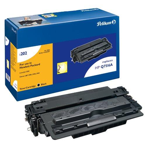 Pelikan Toner ersetzt HP Q7516A (passend für Drucker HP LJ 5200 / TN / DTN; Canon LBP 3500 / -3900 / - 3950)