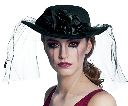 Veiled hat with a net of spiders (gorro/sombrero)