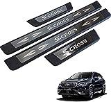 WJYCGFKJ Alféizar de Puerta de Acero Inoxidable de 4 Piezas, para Suzuki Sx4 S-Cross 2014-2019 Accesorios de protección de Estilo de Coche Accesorios de decoración antiarañazos